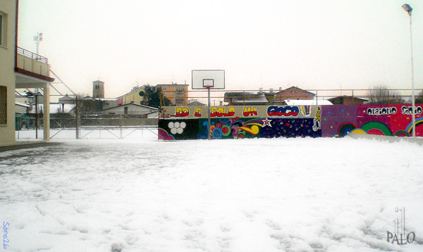 campo di palo neve