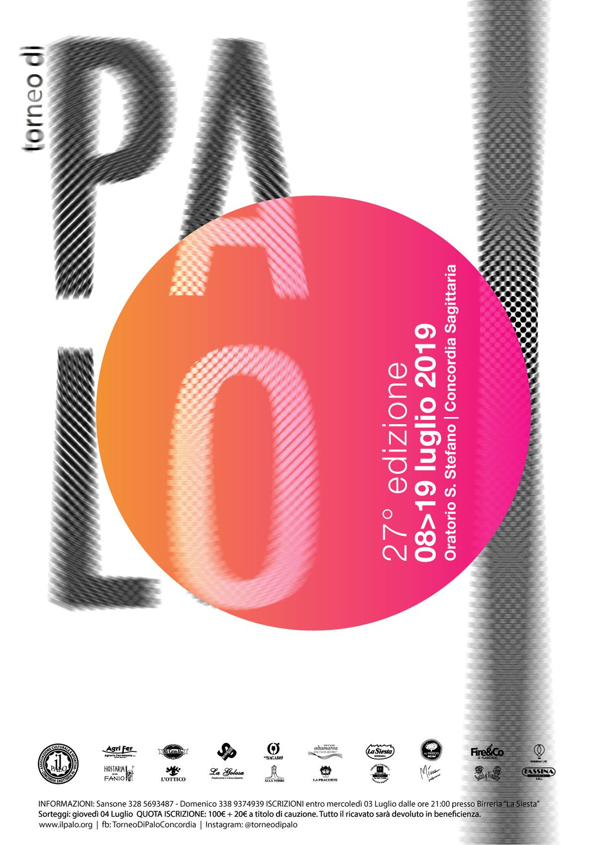 27° Torneo di Palo dal 8 al 19 Luglio 2019 a Concordia Sagittaria
